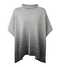 Buy Pure Collection Tate Jacquard Poncho, Heather Charcoal/Grey Online at johnlewis.com