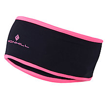 Buy Ronhill Thermal Headband, One Size, Black/Fluorescent Pink Online at johnlewis.com