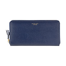 Buy Radley Whitfield Zip Matinee Leather Purse, Navy Online at johnlewis.com