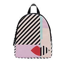 Buy Lulu Guinness Anna Face Backpack, Black / White Online at johnlewis.com