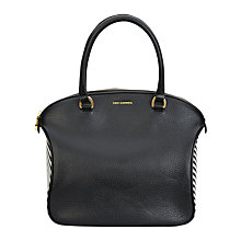 Buy Lulu Guinness Bella Leather Grab Bag, Black / White Online at johnlewis.com