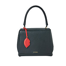 Buy Lulu Guinness Rita Leather Large Shoulder Bag, Black Online at johnlewis.com