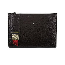 Buy Lulu Guinness Grace M Lipstick Zip Pouch, Black/Red Online at johnlewis.com