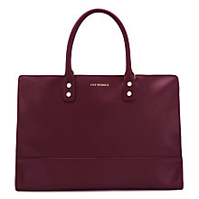 Buy Lulu Guiness Daphne Leather Grab Bag, Cassis Online at johnlewis.com