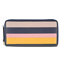 Buy Radley Willow Stripe Large Zip Matinee Purse, Navy Online at johnlewis.com
