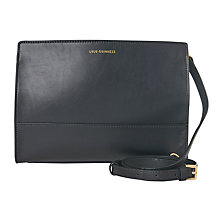 Buy Lulu Guinness Daphne Leather Across Body Bag, Black Online at johnlewis.com
