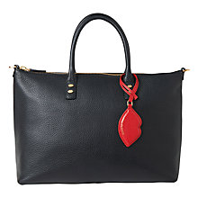 Buy Lulu Guinness Frances Leather Shoulder Bag, Black Online at johnlewis.com