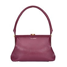 Buy Lulu Guinness Tabitha Leather Shoulder Bag, Cassis Online at johnlewis.com