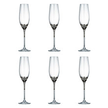 Buy John Lewis Vino Spiral Flute Glasses, Set of 6 Online at johnlewis.com