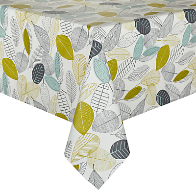 John Lewis Trailing Leaves Wipe Clean Tablecloth