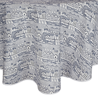 John Lewis Nordic Coast Wipe Clean Round Tablecloth, Dia.180cm