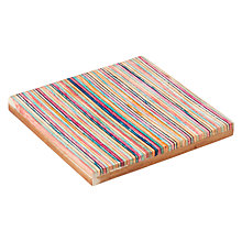 Buy John Lewis Stripe Wood Coaster Online at johnlewis.com