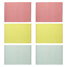 Buy John Lewis Sherbet Placemats, Set of 6 Online at johnlewis.com