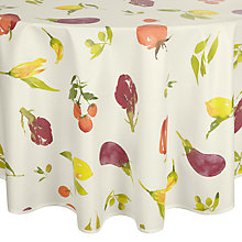 Buy John Lewis Villa Toscana Veg Garden Wipe Clean Tablecloth, Dia.180cm Online at johnlewis.com