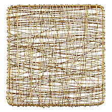 Buy John Lewis Metal Lattice Coaster, Gold Online at johnlewis.com