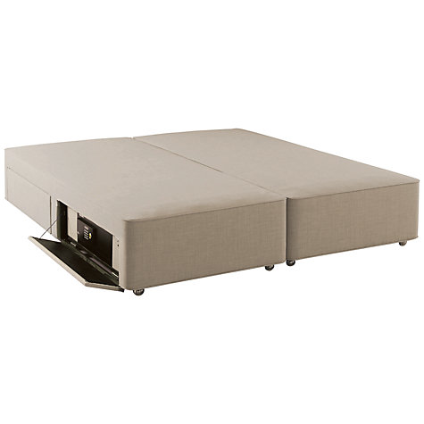 Buy hypnos firm edge 4 drawer divan storage bed with for King size divan bed with drawers