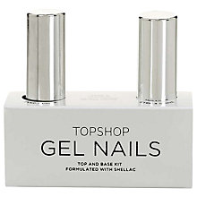 Buy TOPSHOP Gel Nail Polish Top & Base Kit Online at johnlewis.com