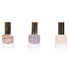 Buy TOPSHOP Glitter Mini Nail Polish Trio, Multi Online at johnlewis.com
