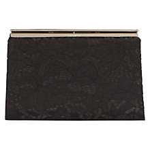 Buy Karen Millen Lace Clutch Bag, Black Online at johnlewis.com