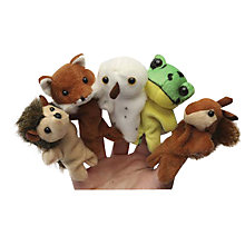 Buy Living Nature Wildlife Finger Puppet Soft Toys, Assorted Online at johnlewis.com
