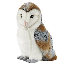 Buy Living Nature Barn Owl Soft Toy, Large Online at johnlewis.com