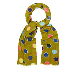 Buy White Stuff Mad About The Spot Scarf, Pear Green Online at johnlewis.com