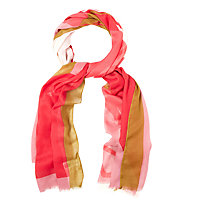 Buy White Stuff Colourblock Giraffe Scarf, Pink Online at johnlewis.com