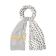 Buy White Stuff Busy Bee Scarf, Plum Online at johnlewis.com