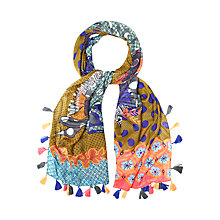 Buy White Stuff Congo Zebra Patchwork Scarf, Multi Online at johnlewis.com