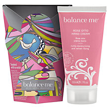 Buy Balance Me Rose Otto Hand Cream Angel, 50ml Online at johnlewis.com
