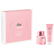 Buy Lacoste Eau de Lacoste L.12.12 Pour Elle Sparkling 30ml Eau de Toilette Fragrance Gift Set Online at johnlewis.com