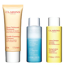 Buy Clarins Cleansing Kit, Dry / Sensitive Online at johnlewis.com
