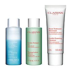 Buy Clarins Cleansing Kit, Normal / Combination Online at johnlewis.com