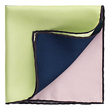 Buy Thomas Pink Multi Box Silk Pocket Square, Multi/Charcoal Online at johnlewis.com