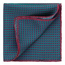 Buy Thomas Pink Geo Print Silk Pocket Square Online at johnlewis.com