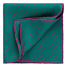 Buy Thomas Pink Shefford Spot Silk Pocket Square Online at johnlewis.com
