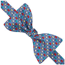 Buy Thomas Pink Multi Elephant Print Self Tie Silk Bow Tie, Blue/Multi Online at johnlewis.com