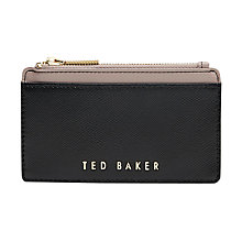 Buy Ted Baker Kinnble Leather Coin Purse, Black Online at johnlewis.com