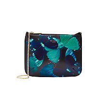 Buy Ted Baker Albany Across Body Leather Bag, Black Online at johnlewis.com