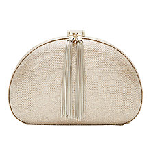 Buy Ted Baker Dovey Clutch Bag, Gold Online at johnlewis.com