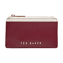 Buy Ted Baker Kinnble Leather Coin Purse Online at johnlewis.com