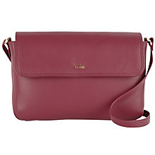 Buy Tula Nappa Originals Small Flap Over Across Body Bag, Burgundy Online at johnlewis.com