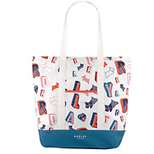 Buy Radley Spell Check Cotton Canvas Large Tote, Natural Online at johnlewis.com