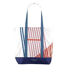 Buy Radley Triagonal Large Canvas Tote Bag, Multi Online at johnlewis.com