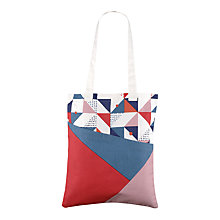 Buy Radley Triagonal Canvas Medium Tote Bag, Multi Online at johnlewis.com