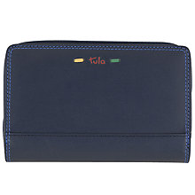 Buy Tula Violet Leather Purse, Navy Online at johnlewis.com