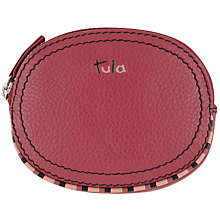Buy Tula Mallory Leather Purse, Burgundy Online at johnlewis.com