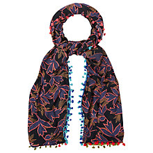 Buy White Stuff Shop Local Floral Scarf, Blue Online at johnlewis.com