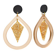 Buy Toolally Pear And Diamond Shaped Drop Earrings, Nude/Glitter Online at johnlewis.com