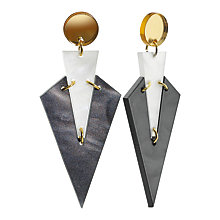 Buy Toolally Art Deco Drop Earrings, Marble/Multi Online at johnlewis.com